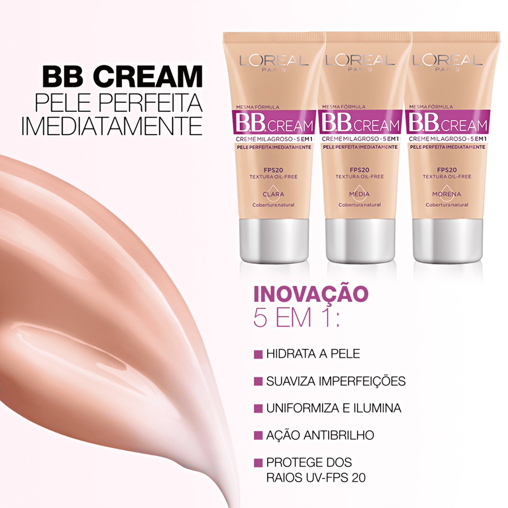 BB Cream 5 em 1 Loreal Paris