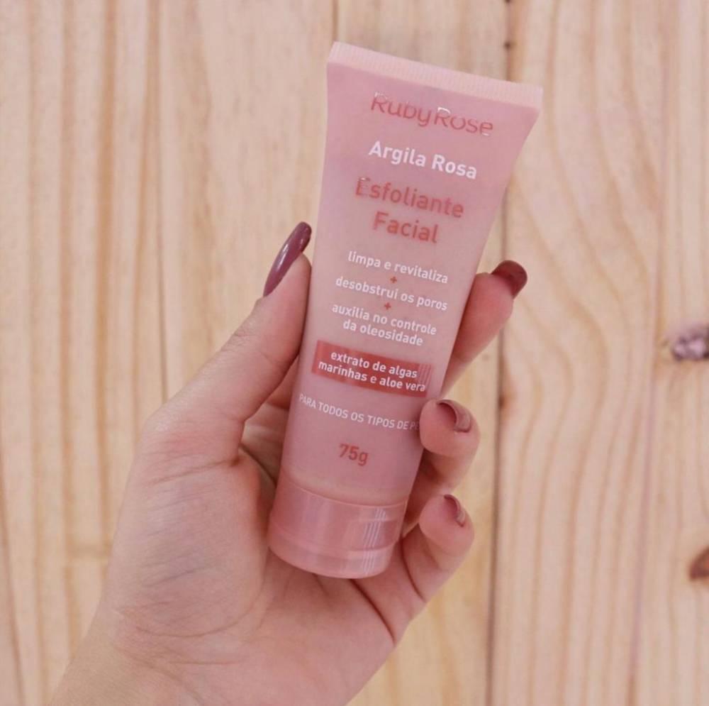 esfoliante facial argila rosa by ruby rose