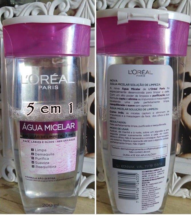 Água micelar 5 em 1 loreal