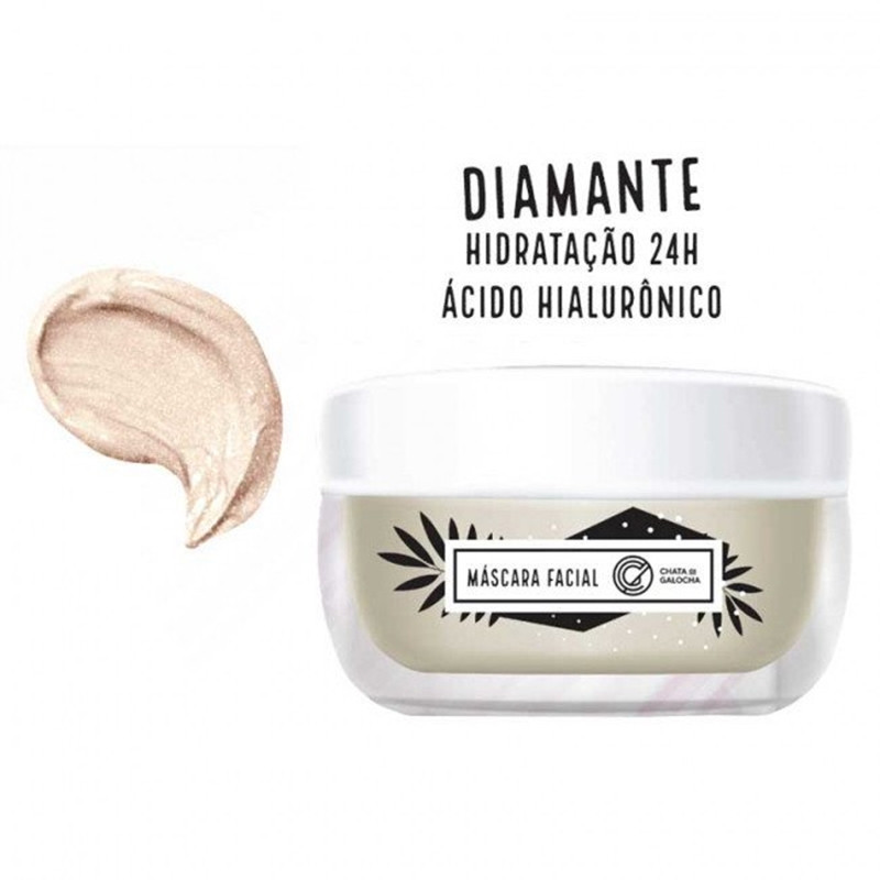 máscara facial diamante
