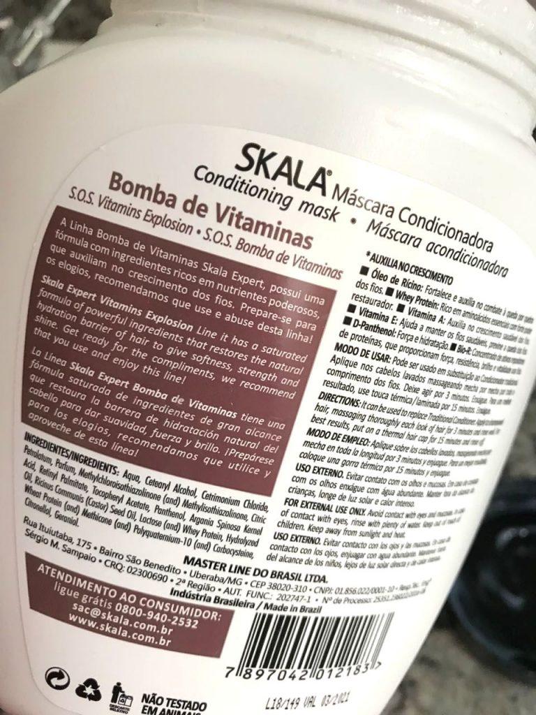 Creme de Tratamento Bomba de Vitaminas Skala